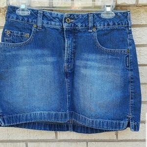 Silver Jeans Denim Skirt Distressed Size 30